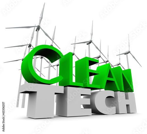 Clean Tech Windmill Farm Renewable Energy Wind Turbines