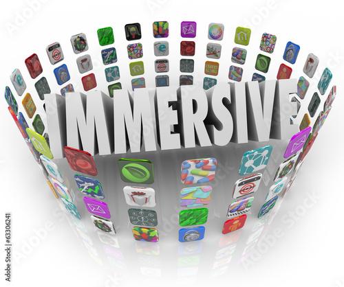 Immersive Word App Software Program Application Icons
