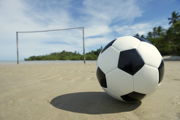 Brazilian Beach Football Pitch with Soccer Ball