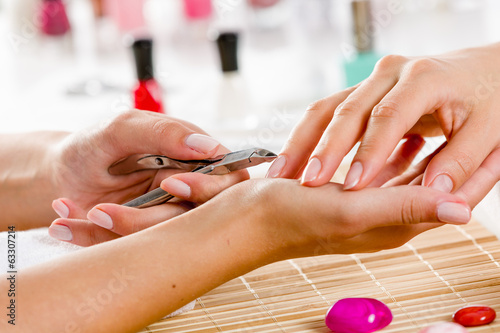 Woman at beauty salon
