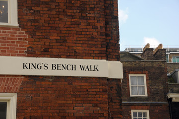 Kings Bench Walk, Inner Temple, Inns of Court, London
