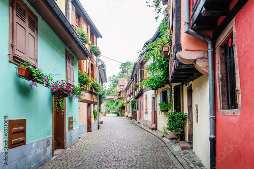alley in a medieval town - 63310691