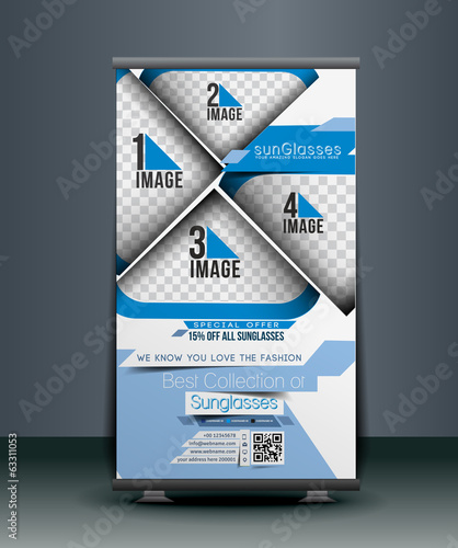 Optician Sunglasses Store Roll Up Banner Design