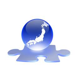 日本地図とジグソーパズル