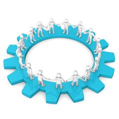 Manikins Circle Gearwheel