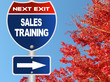 Sales training road sign