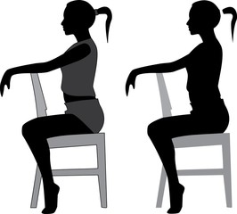 silhouette of sexy girl sitting on a chair eps8 vector image