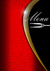 Menu Template  - Red Gold and Black