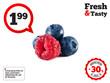 Fresh blueberries, raspberry isolated on white