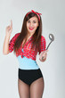 sexy pin up girl with a ladle
