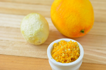 Grated citrus rind