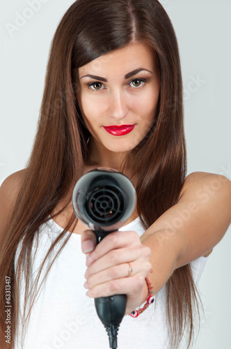 drying hair dryer