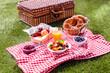 Leinwanddruck Bild - Colorful healthy summer picnic