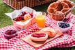 Delicious summer picnic for vegetarians - 63313660