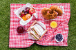 Fresh healthy summer picnic lunch - 63313695
