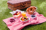 Colorful healthy summer picnic