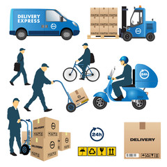 Delivery and shipment icons