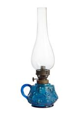Kerosene lamp isolated on the white