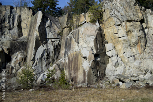 Big granite rocks outside Stockholm, Sweden