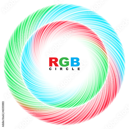 Abstract RGB circle.