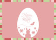 Vector Easter Egg with Greeting on a Pink Background