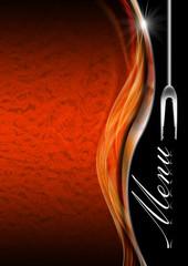 Menu Template  - Orange Black and Metal