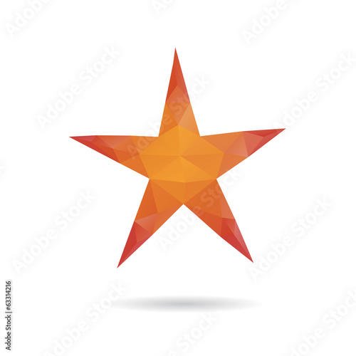 Star abstract isolated on a white backgrounds