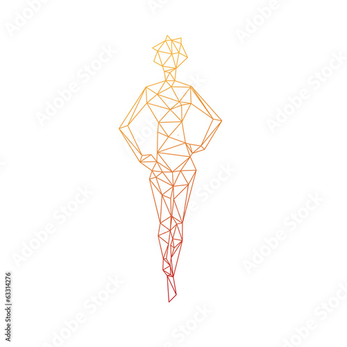 Woman silhouette abstract isolated on a white backgrounds