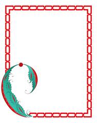 Çini Desenli Frame Çerçeve