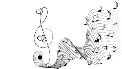 Music fantasy and hearts