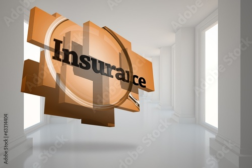 Composite image of insurance on abstract screen