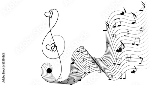 Music fantasy and hearts