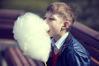 kids eating cotton candy