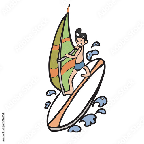 Man playing wind surf