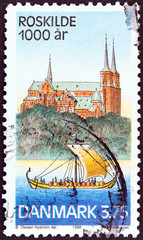 Roskilde Cathedral and Viking Longship (Denmark 1998)