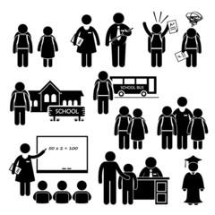 Student Teacher Headmaster School Children