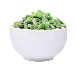 Close up of frozen peas