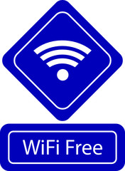 wi-fi free zone sign