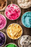 Fototapety Colorful tubs of Italian ice cream