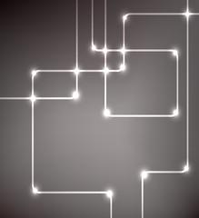 EPS10 vector modern hi-tech glowing background illustration