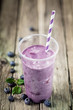 Delicious healthy blueberry smoothie