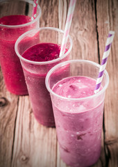 Healthy berry smoothies with low fat yogurt
