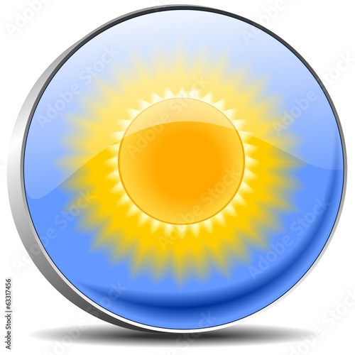 Sunshine button magnifying glass Vektor Knopf