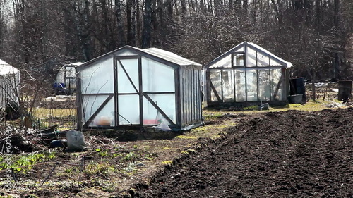 Some greenhouse on the field