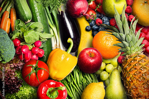 canvas print picture Vegetables and Fruit