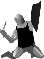 Knight with armor Shield and sword