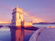 Belem Tower on a sunset, Lisbon, Portugal