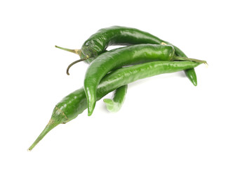 Four green peppers.
