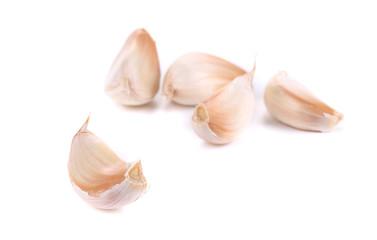 Close up of garlic cloves.