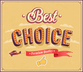 Best choice typographic design.